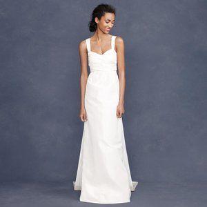 J. Crew Larissa Wedding Gown Size 6 Silk New